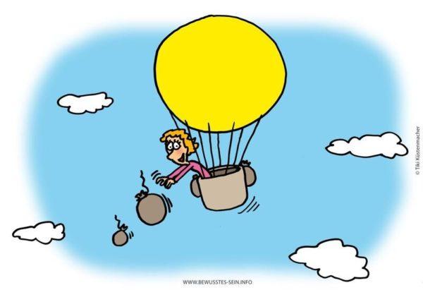 Ballonfahrerin